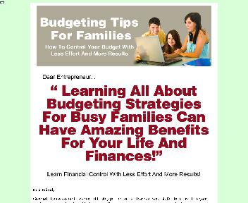 Budgeting Tips For Families Coupon Codes