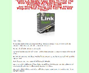 Affiliate Link Weeder Comes with Master Resale/Giveaway Rights Coupon Codes