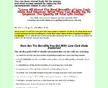 Low Carb Diets Explained Comes with Master Resale/Giveaway Rights discount code