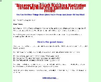 Breath Watching Meditation Comes with Master Resale/Giveaway Rights Coupon Codes