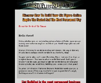 One Stop List Blueprint By Sir Timan Coupon Codes