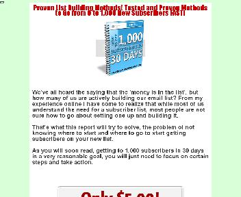 1,000 Subscribers in 30 Days Coupon Codes