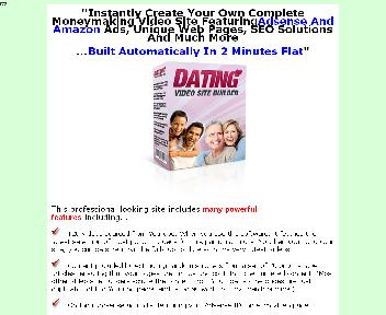 Dating Video Site Builder Comes with Master Resale/Giveaway Rights Coupon Codes