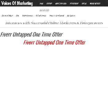 Fiverr Untapped Coupon Codes