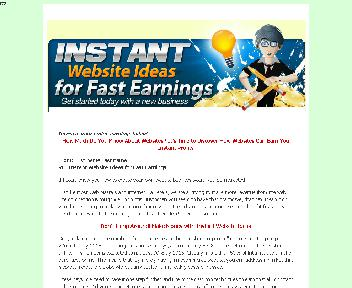 Instant Website Ideas for Fast Earnings Comes with Resale Rights Coupon Codes