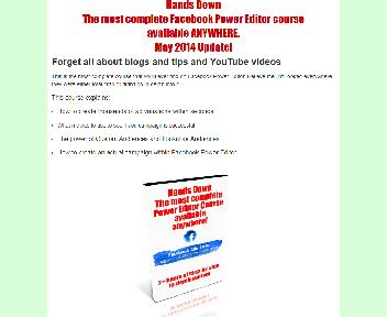 The most complete Facebook Power Editor Course available anywhere Coupon Codes
