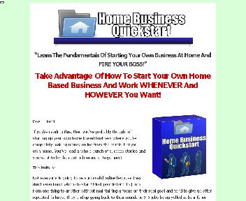 Home Business Quick Start Coupon Codes