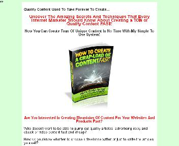 How To Create A Crap Load Of Content Fast Comes with Private Label Rights discount code
